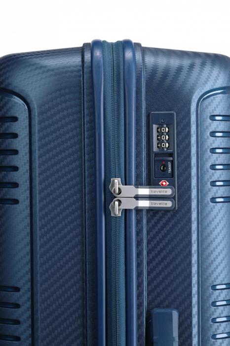Troler de cabina Travelite ZENIT 4 roti duble (spinner) 55 cm S 3