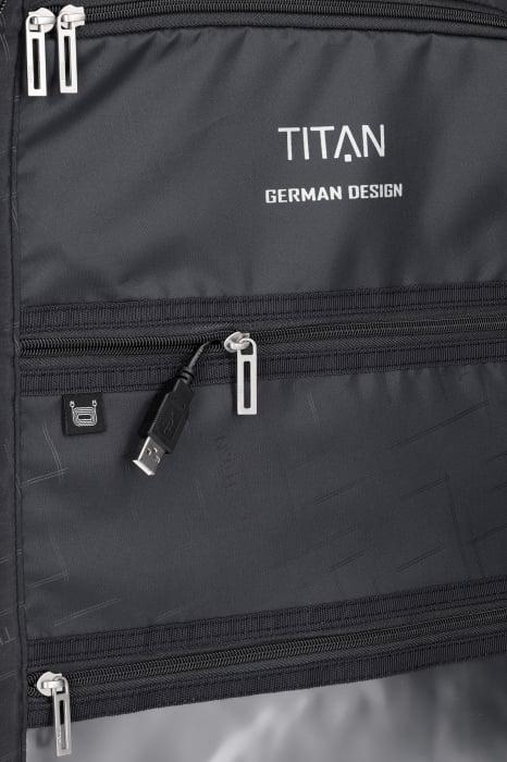 Troler de cala cu USB - TITAN XENON 4 roti 74 cm (L) - Albastru 13
