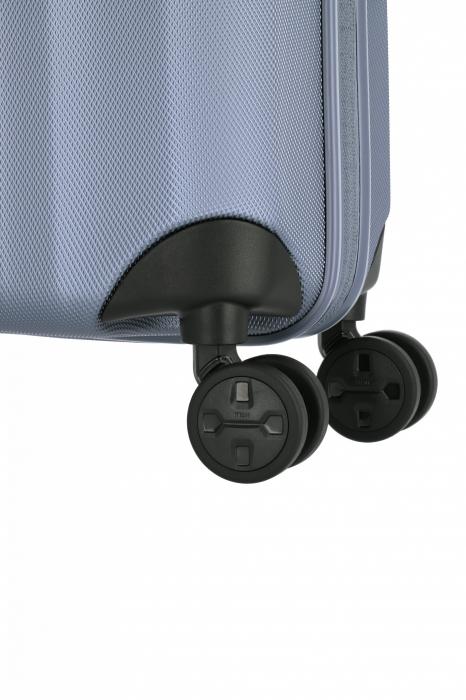 Troler de cabina cu USB - TITAN XENON 4 roti 55 cm (S) - Albastru 8