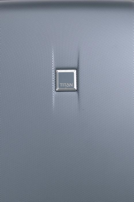 Troler de cabina cu USB - TITAN XENON 4 roti 55 cm (S) - Albastru 7