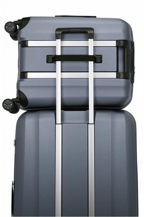 Troler de cabina cu USB - TITAN XENON 4 roti 55 cm (S) - Albastru 6