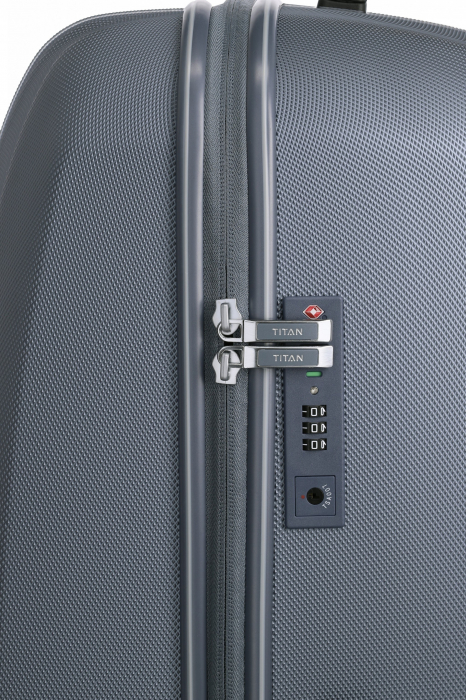 Troler de cala cu USB - TITAN XENON 4 roti 74 cm (L) - Albastru 5