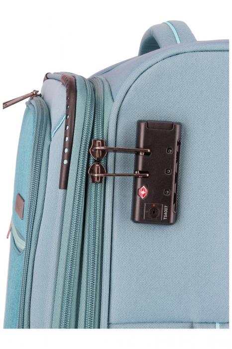 SET Trolere Travelite Arona 4 roti duble S, M, L + CADOU geanta de bord 5