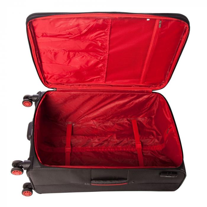 Troler Lamonza Essen 55 cm - Gri cu rosu 3