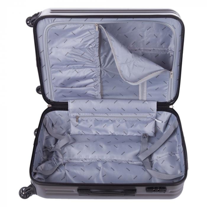 Troler Lamonza Fantasy argintiu cu negru 77X53X30 cm 4