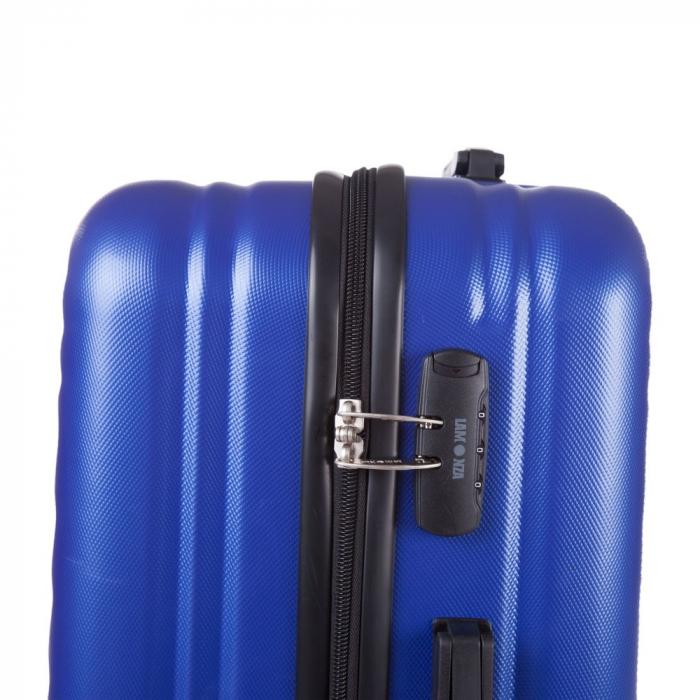 Troler Lamonza Fantasy albastru cu negru 77X53X30 cm 4