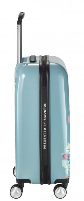Troler LIL'LEDY 4 roti duble  S - 54 cm, albastru pudrat - inbagaj 3