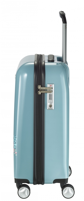 Troler LIL'LEDY 4 roti duble  S - 54 cm, albastru pudrat - inbagaj 2