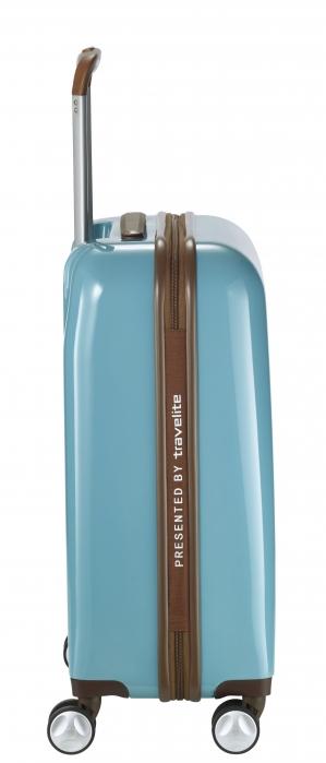 Troler LIL'LEDY 4 roti duble  S- 54 cm, turquoise -inbagaj