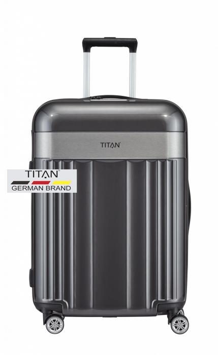 Troler TITAN - SPOTLIGHT 4 roti duble M - 67 cm 0