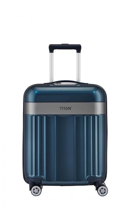 Troler TITAN - SPOTLIGHT - S - 55 cm 4 roti duble 0
