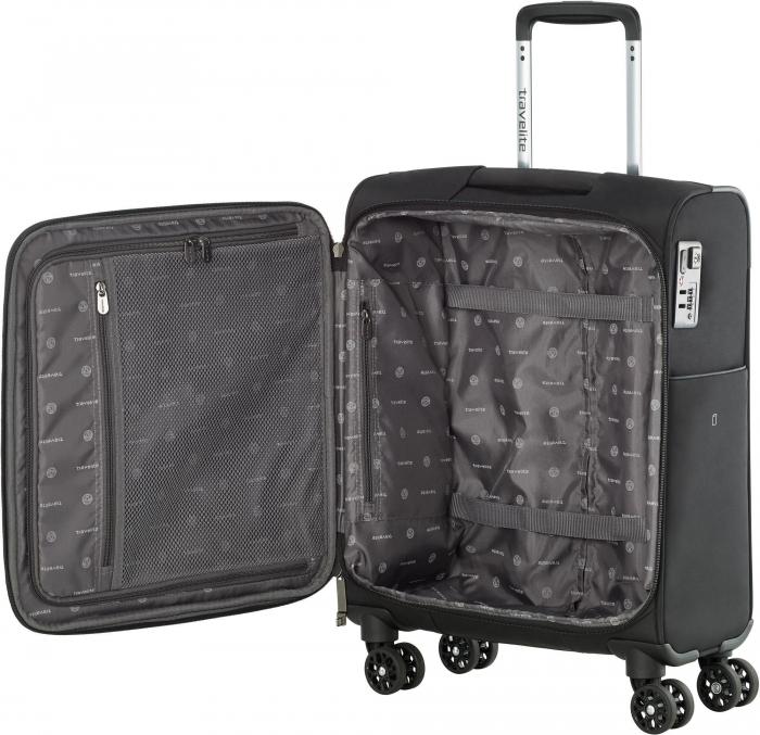 Set trolere Travelite JADE 4 roti 54cm, geanta de umar si rucsac (USB incorporat) 14