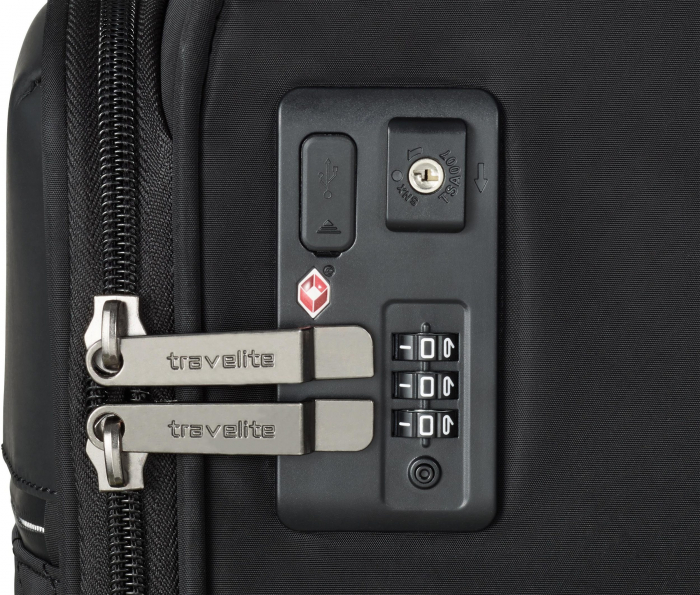 Set trolere Travelite JADE 4 roti 54cm, geanta de umar si rucsac (USB incorporat) 12