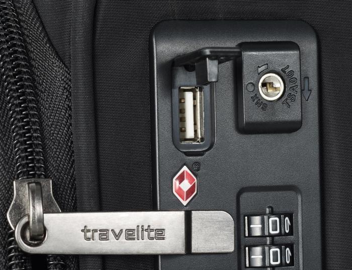 Set trolere Travelite JADE 4 roti 54cm, geanta de umar si rucsac (USB incorporat) 11