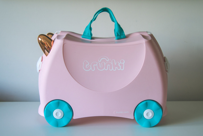 Set travel pentru copii - Valiza TRUNKI Flossy the Flamingo + Trunki Tidy Bag Pink - Trunki 2