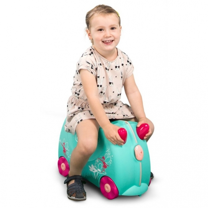 Set travel pentru copii Valiza TRUNKI Flora - Fairy + Trunki Tidy Bag Pink 4