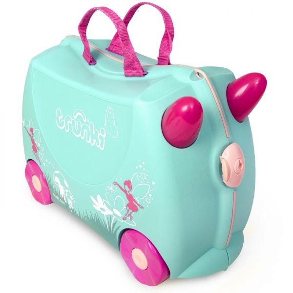 Set travel pentru copii Valiza TRUNKI Flora - Fairy + Trunki Tidy Bag Pink 1