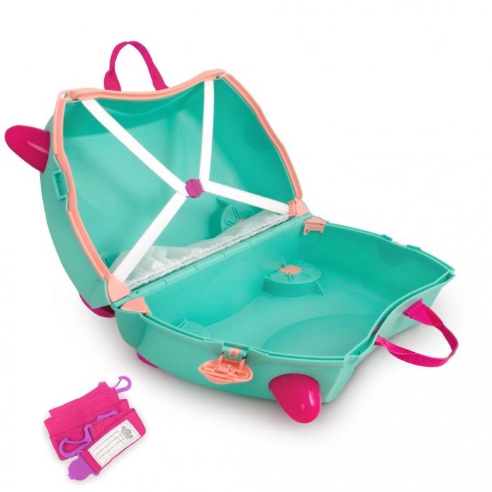 Set travel pentru copii Valiza TRUNKI Flora - Fairy + Trunki Tidy Bag Pink 6