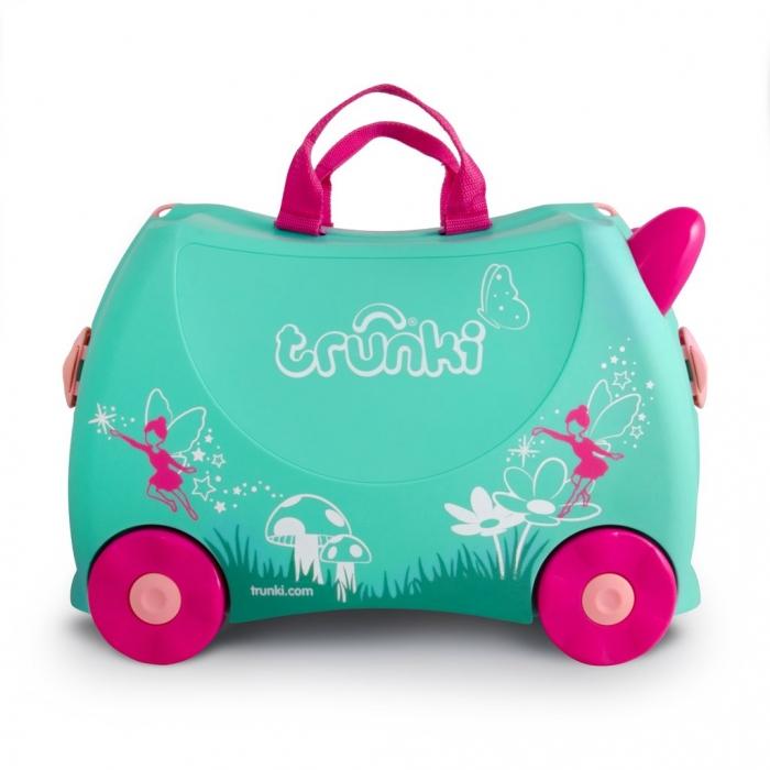 Set travel pentru copii Valiza TRUNKI Flora - Fairy + Trunki Tidy Bag Pink 7