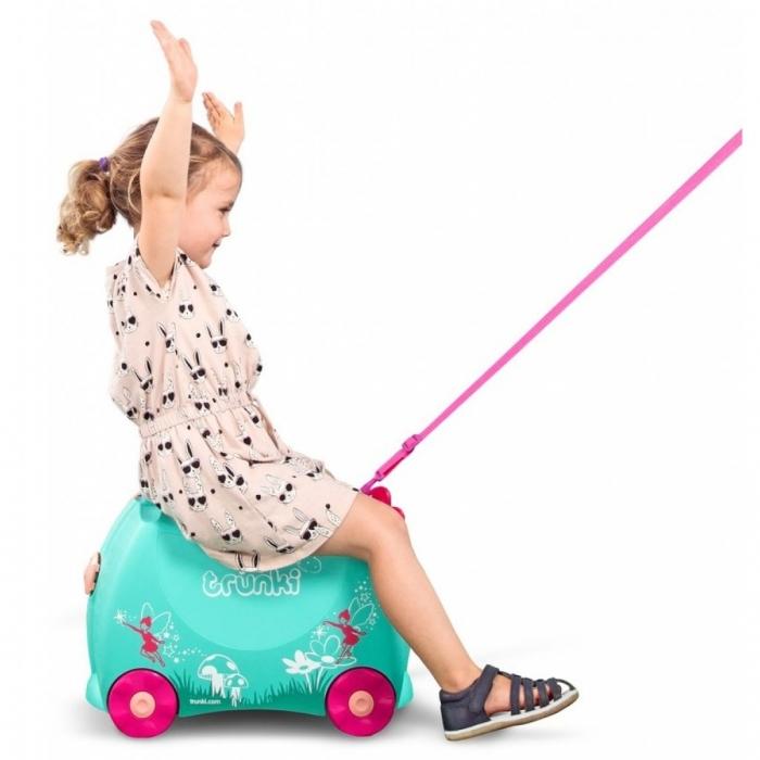 Set travel pentru copii Valiza TRUNKI Flora - Fairy + Trunki Tidy Bag Pink 5