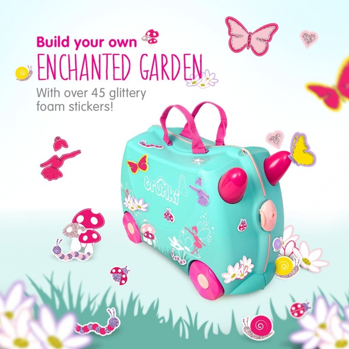Set travel pentru copii Valiza TRUNKI Flora - Fairy + Trunki Tidy Bag Pink 2