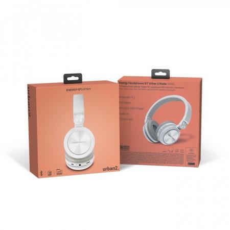Casti over-ear Bluetooth Energy BT Urban 2 Radio, Bluetooth 4.2 Alb [6]