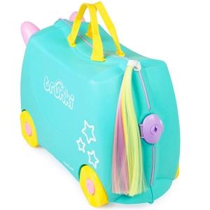 Set travel pentru copii - Valiza TRUNKI UNA - Unicornul + Perna calatorie Trunki Yondi Pink3