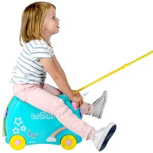 Set travel pentru copii - Valiza TRUNKI UNA - Unicornul + Perna calatorie Trunki Yondi Pink