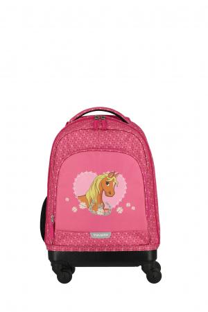Rucsac pentru copii cu troler 4 roti Pony   - travelite15