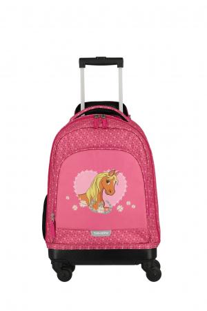 Rucsac pentru copii cu troler 4 roti Pony   - travelite0