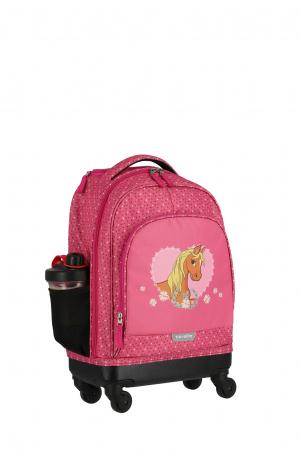 Rucsac pentru copii cu troler 4 roti Pony   - travelite16