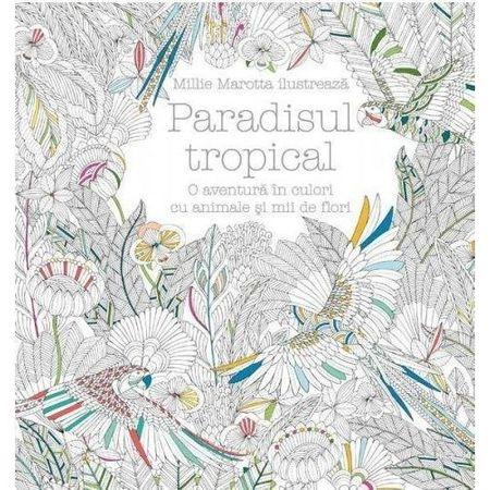Carte de colorat - Paradisul Tropical
