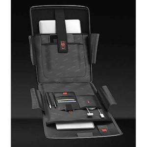 Troler Laptop Roncato Double, Negru/Lime3