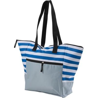 Geanta de plaja alb-bleu0