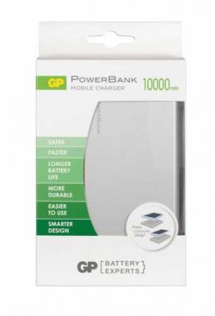 Acumulator portabil powerbank 10000mAh, argintiu, GP2