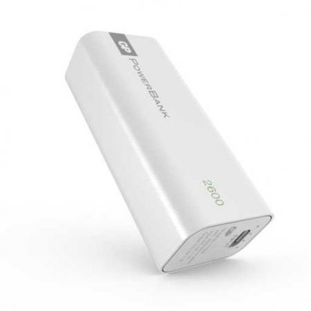 Acumulator portabil powerbank 2600mAh, alb, 1C02AW, GP1