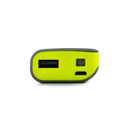Acumulator portabil powerbank 4000mAh 5V 1A, negru/galben2