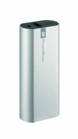 Acumulator portabil powerbank 5200mAh, argintiu, GP1