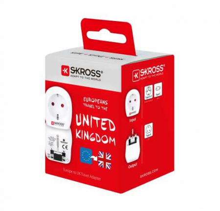 Adaptor priza EU ->UK Skross2