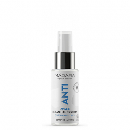 ANTI 20 SEC CLEAN HANDS Spray igienizant (70% alcool) 50ml Madara0