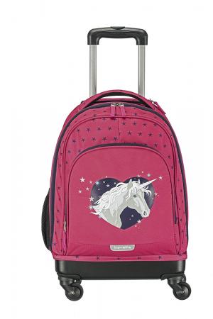 Set 3 piese pentru copii - Unicornul - Travelite (troler, rucsac, geanta pentru cosmetice)