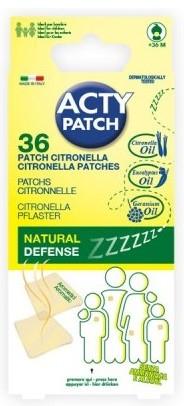 Plasturi cu citronella impotriva tantarilor ActyPatch, 36 bucati