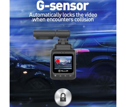 Camera auto Tellur Dash Patrol DC2, FullHD 1080P, GPS, Black inbagaj [6]