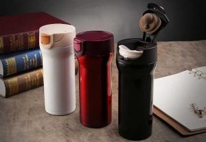 Cana cafea de calatorie 350 ml, termoizolanta - Rosu10