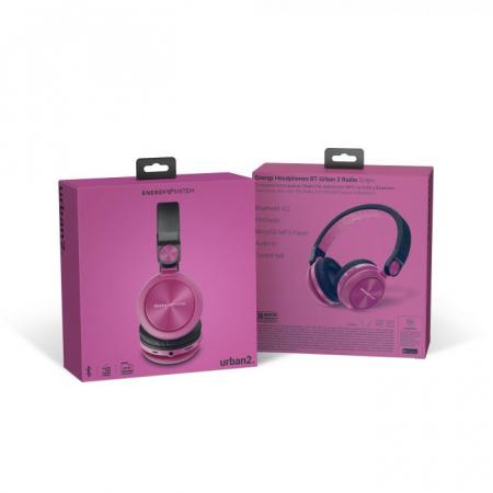 Casti over-ear Bluetooth Energy BT Urban 2 Radio, Bluetooth 4.2 Violet6