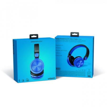 Casti over-ear Bluetooth Energy BT Urban 2 Radio, Bluetooth 4.2 Albastru5