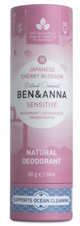 Deodorant stick cu bicarbonat Japanese Cherry Blossom, tub carton 60g - Ben & Anna