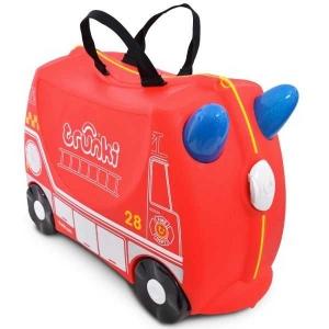 Valiza TRUNKI FRANK - Masina de Pompieri Rosu0