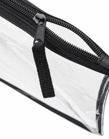 Geanta cosmetice transparenta cu fermoar - Contur Negru1