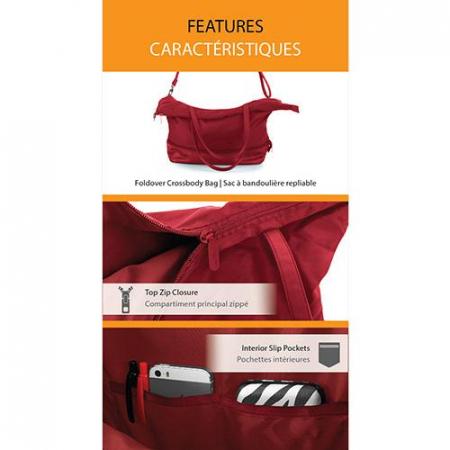 Geanta de calatorie/ cumparaturi HEYS HiLite Zip Packaway  - Rosu4